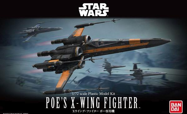 B POE'S X-WING FIGHTER 1:72