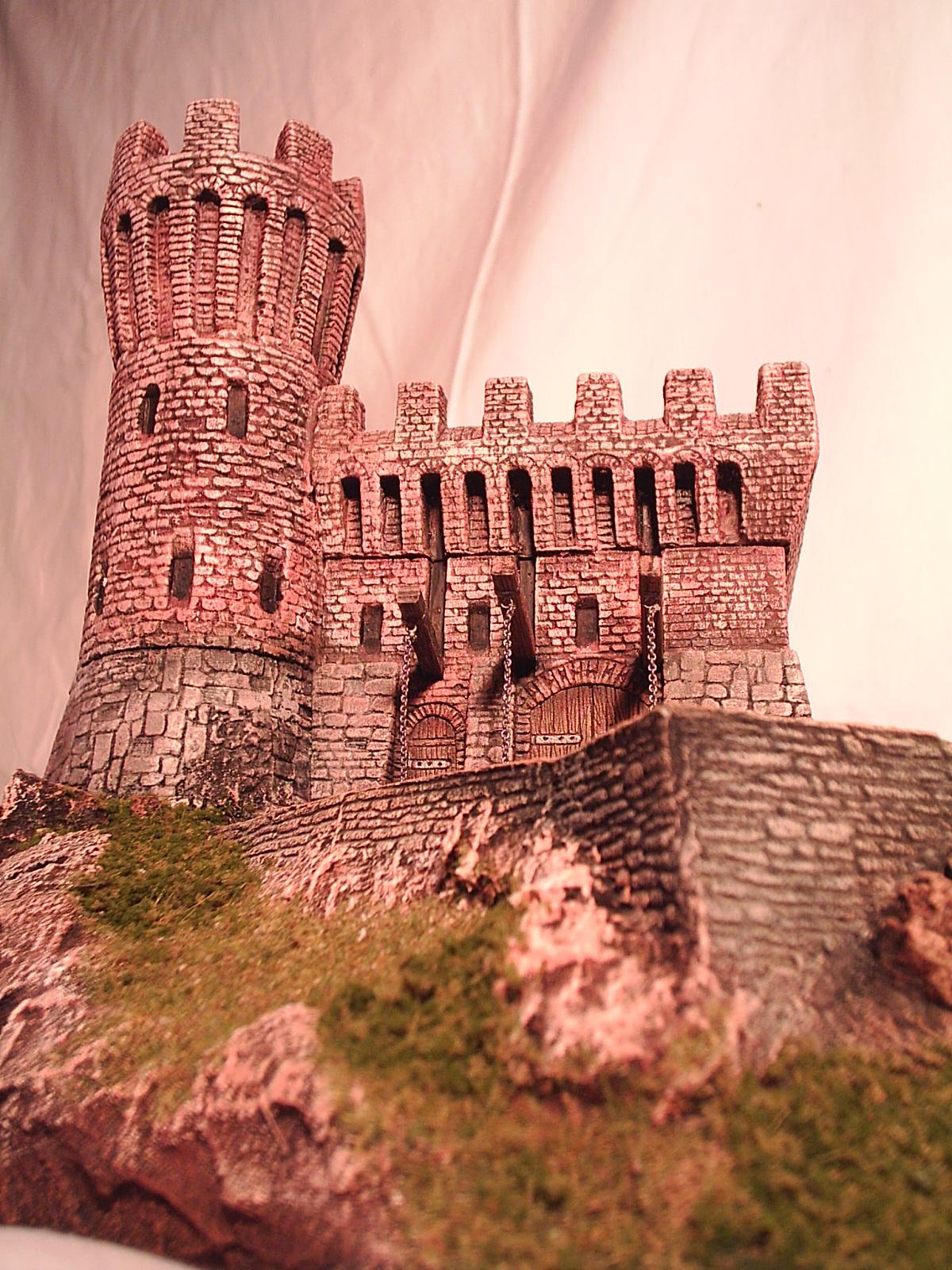 diorama castello scala 1/72 con materiale Manor House