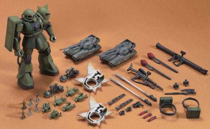HG ZAKU GROUND ATTACK SET