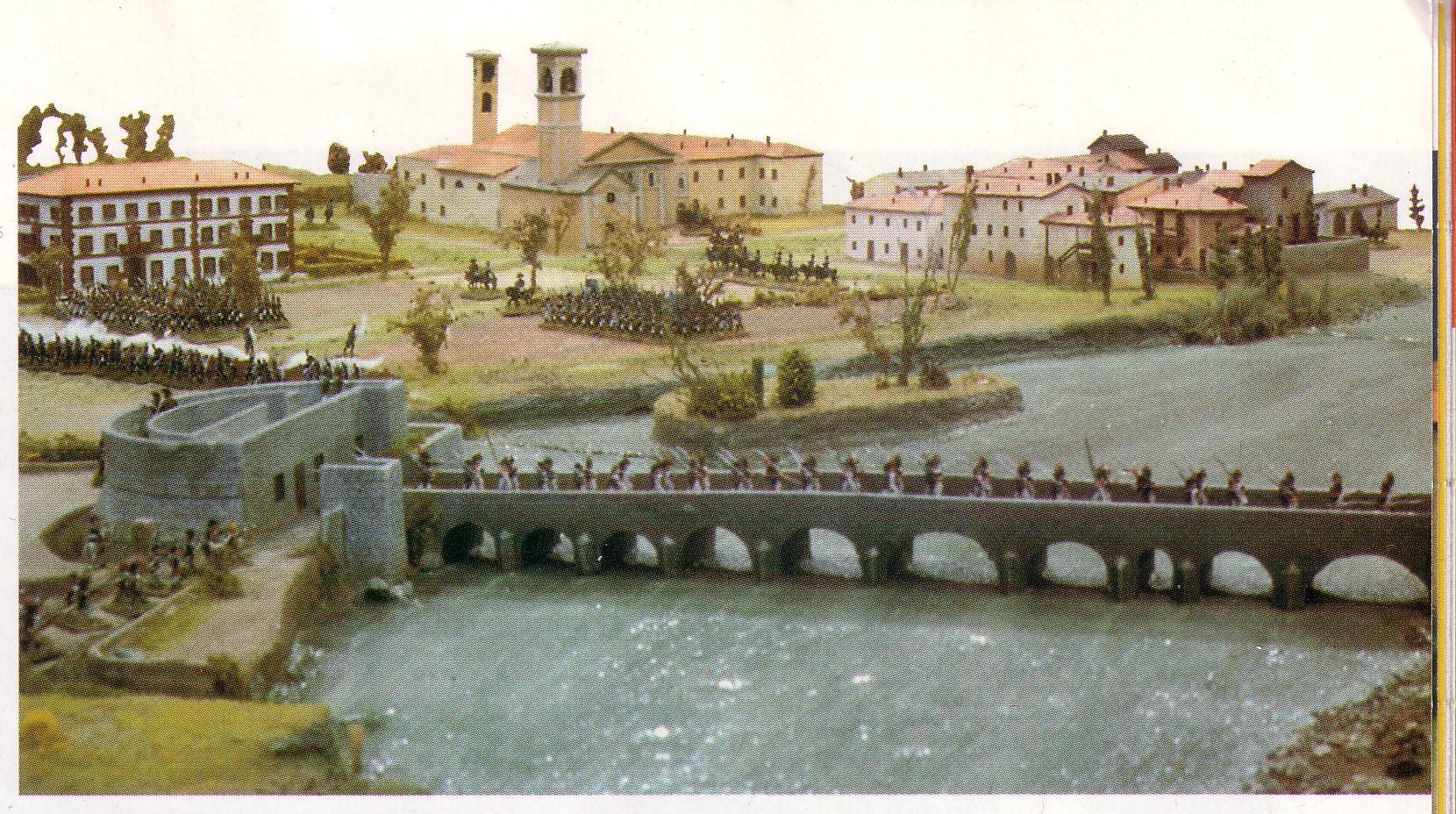 Plastico della battaglia di lecco 1799 presso il Museo Manzoniano di Lecco