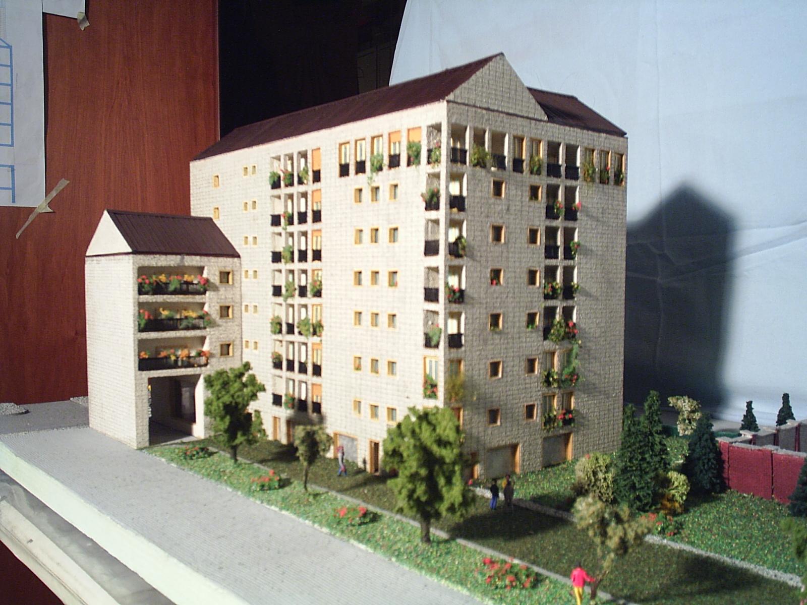 Plastico Architettonico scala 1:100 Viale Palmanova Milano