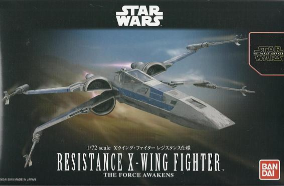 B RESISTANCE X-WING FIGHTER 1:72