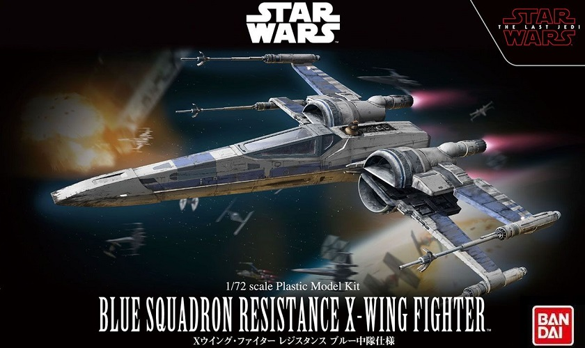 B BLUE SQUADRON RESISTANCE X-WING FIGHTER 1:72
