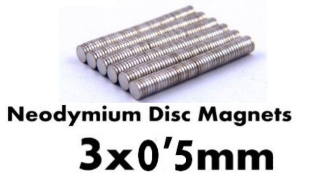 HIQ NEODYMIUM MAGNET 3x0.5mm