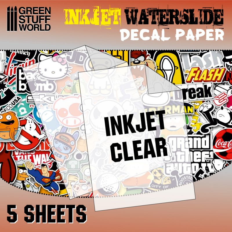 Waterslide Decals - Inkjet Transparent